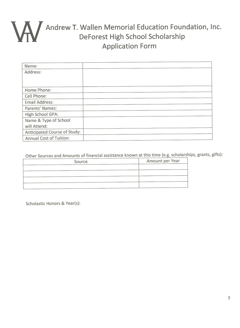 Application pg 3